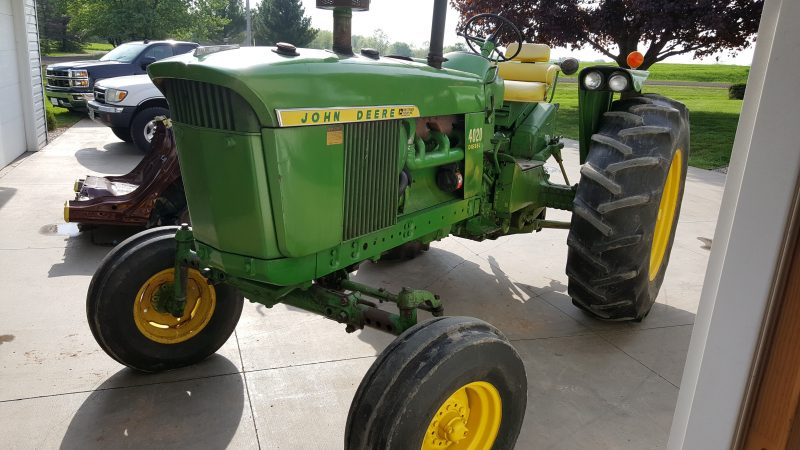 tractor restoration before
